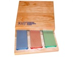 "Three Stone 6"" Diamond Whetstone™ Set in Hardwood Box"